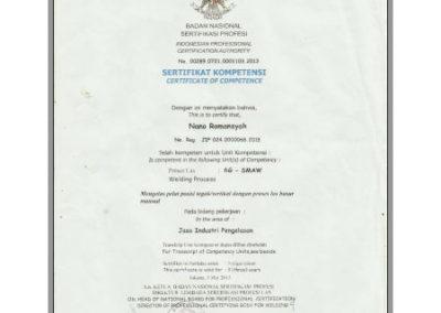 Certificate Welder