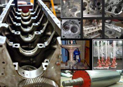 Engine Block, Cylinder Head, Spindle Value, Press Roll